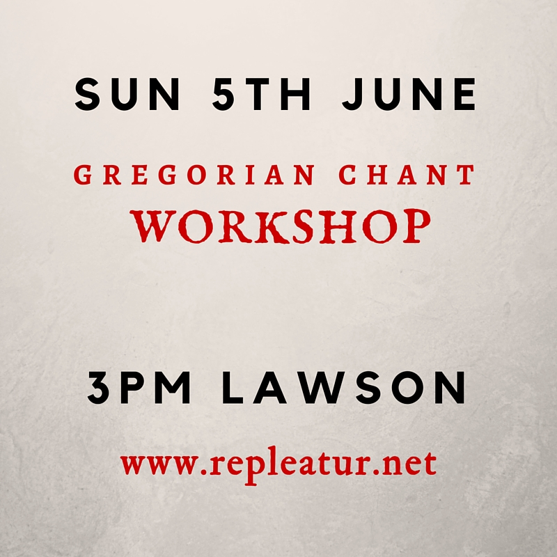 Workshop Sun 5th June 3pm Lawson